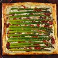 Asparagus, Shiitake Mushroom, and Sun Dried Tomato Tart Recipe