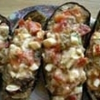 Eggplants Stuffed With Mozzarella