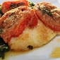 baked haddock with spinach and tomates