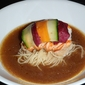 Lobster Tail with Capellini in Porcini Mushroom Broth