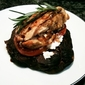 Grilled Chicken, Chevre on Portabello Mushroom