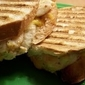 Cheddar Chicken Panini with Roasted Red Pepper Spread
