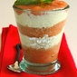 Duo of mousses – Yogurt mousse with rhubarb and peaches