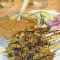 SATAY WITH PEANUT SAUCE