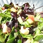 A fresh spring mix salad with balsamic vinaigrette