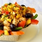 Low Fat Chicken Taco Salad with Mango Salsa