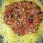 Three Bean Chili with Spaghetti Squash