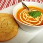 Creamy Roasted Tomato and Garlic Soup with Mini Focaccias