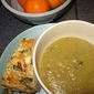 Split Pea Soup and Spinach Feta Bread