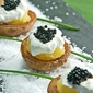 New Potatoes with Sour Cream and Caviar