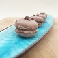 Chocolate Macarons with Raspberry Filling