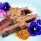 chef it yourself top chef challenge: edible flowers, shallots and beef