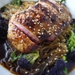 Seared Duck Breast with Rice Noodles , Purple Sprouting Broccoli & Chinese Spiced Broth