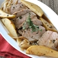 Pork Tenderloin with Pear, Shallot & Vermouth Sauce Recipe