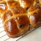 Hot Cross Buns with Glacé Citrus Peel