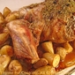 Leg of Lamb with Garlic and Rosemary; mon jardin
