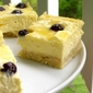 Lemon Blueberry Cheesecake Squares with Shortbread Crust