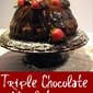 Triple Chocolate Merlot Bundt Cake with Cardamom