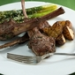 Pan Fried Lamb Chops with Garlic and Herbs
