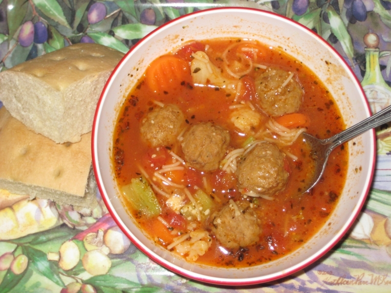 Speedy Italian Meatball Soup Recipe by Penny - CookEatShare