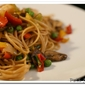 Sesame Noodles with Shrimp and Vegetables