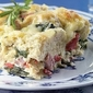 Ham, Gruyere And Spinach Bread Pudding