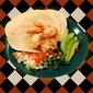 Beer steamed shrimp tacos