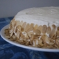 Carrot Cake with Cream Cheese frosting and toasted almonds