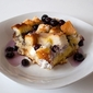 Overnight Blueberry French Toast with Blueberry Syrup