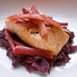 In the Pouring Rain - Roasted Salmon with Rhubarb & Red Cabbage
