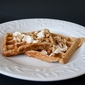 Banana Bread Waffles with Maple Nut Cream Cheese Spread