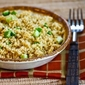 Recipe for Whole Wheat Couscous Side Dish with Green Onions and Parmesan