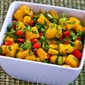 Recipe for Mango Peperoncini Salsa with Red Bell Pepper, Lime and Cilantro