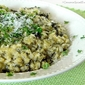 Baked Brown Rice with Smoked Gouda Cheese & Spinach