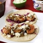 Roasted Tomatillo Shrimp Tacos Recipe with Honey-Lime Slaw