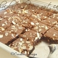 Chocolate banana nut cake or rather squares- tastes delicious anyway!!