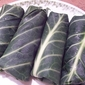 Collard Greens stuffed with Spicy Mock Seafood Pate