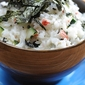Can't roll sushi? No problem! Try Our California Roll Cold Rice Salad