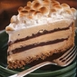 S'mores Coffee and Fudge Ice Cream Cake