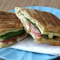 Grilled Chicken, Bacon & Smoked Gouda Panini with Pesto Mayonnaise Recipe