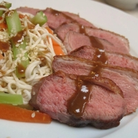 Hoisin Duck Breast with Sesame Noodle Salad