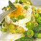 Poached Egg with Polenta, Green Garlic and Asparagus; an Award