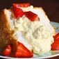 Angel Food Cake with Pineapple Whip