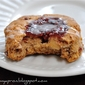 Raspberry Thumbprint Wholewheat Scones with Macadamia Nuts