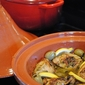 Moroccan chicken tagine with lemon, olives and thyme