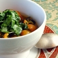Spring Vegetable Curry with Ramp Cilantro Chutney