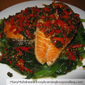 Spicy Salmon On Spinach