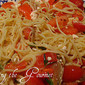 Fresh Tomato, Garlic, Rosemary and Feta Cheese with Spaghetti & Anchovy