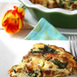 Potato-Crusted Quiche Recipe with Pancetta, Sun-Dried Tomatoes & Spinach