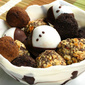 Assorted Truffles in a Chocolate Bowl